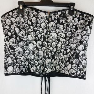 Other - Skull Pattern Corset Bustier Gothic Punk Plus Size
